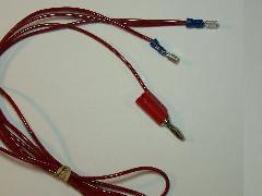 Red wire (positive) with 2 QD connectors for copper pads