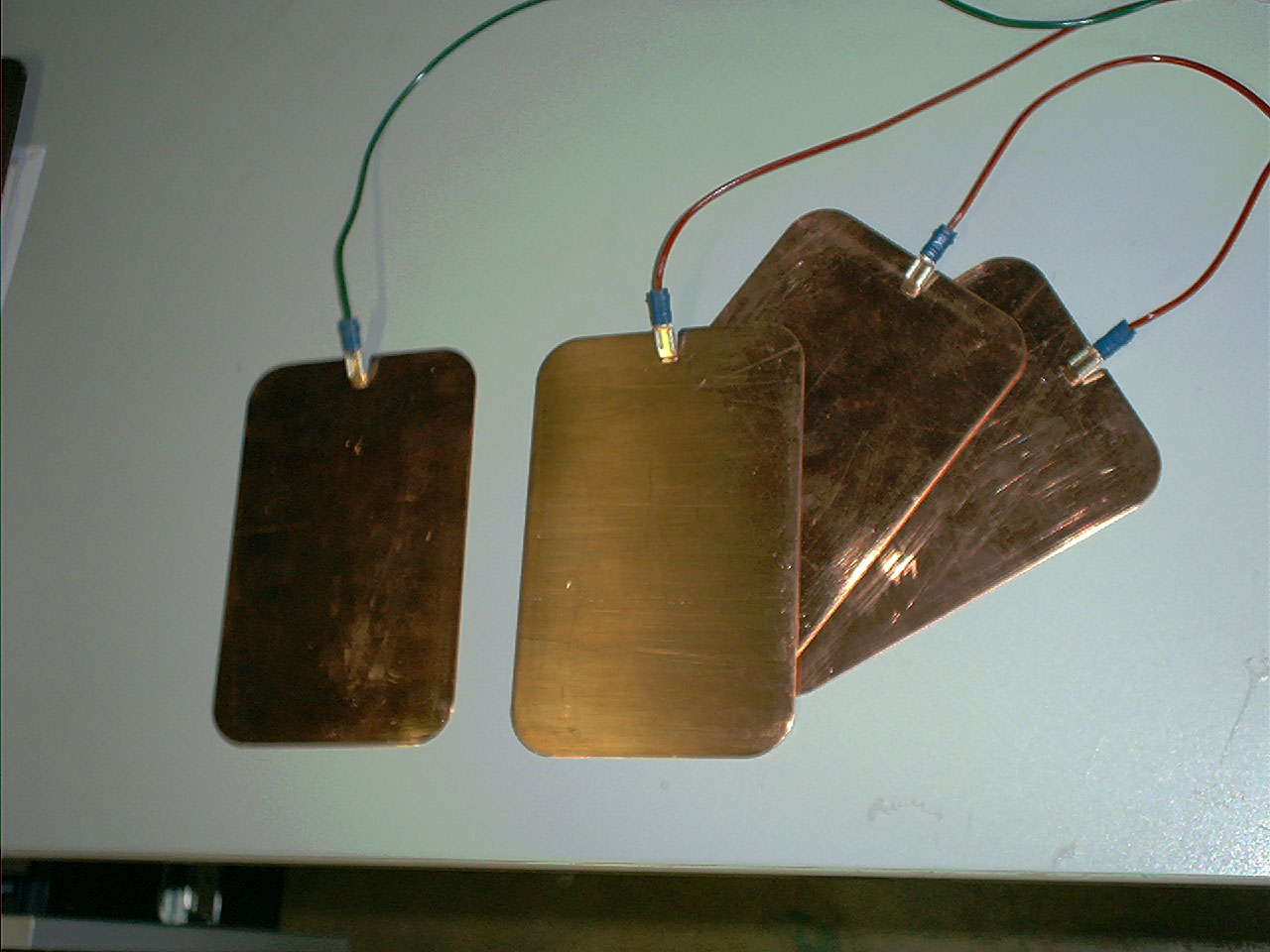 Set of 4 copper large zapping pads