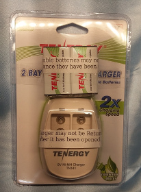 Fast Charger with two 9 volt 250 mah NiMH rechargable batteries