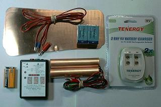 ParaZapper™ MY-3 with copper paddles, pads, 2 each 8.4 volt rechargeable batteries, and fast charger